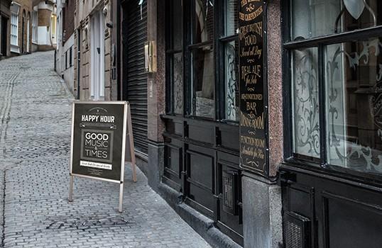 Panneau pub recto verso pour boutique